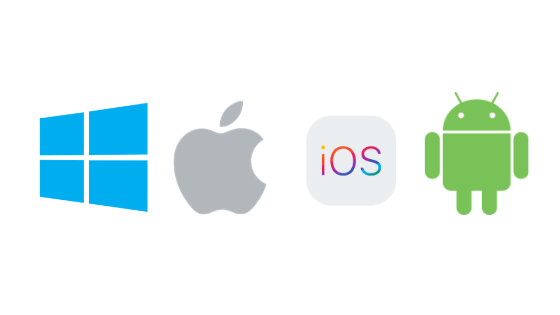 mac windows ios android logos