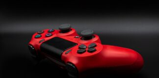A red PS4 controller silicone skin
