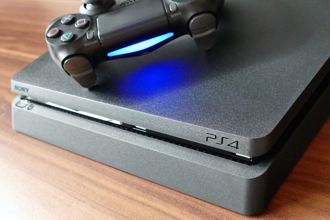 A controller and PS4 that could benefit from cooling stands